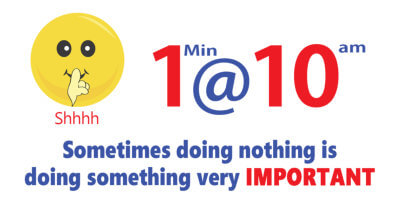 sometimes doing nothing is doing something very important